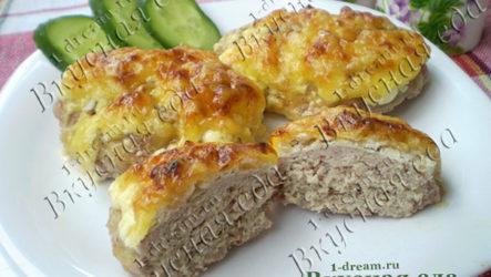 Котлеты куриные запеченные с сыром и майонезом