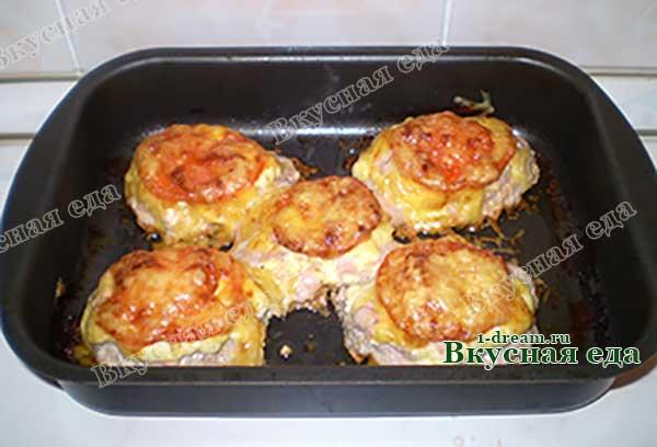 Мясо под сыром готово