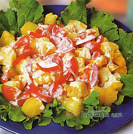 Фруктовый салат из ананасов