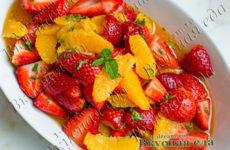 Салат из апельсинов и клубники