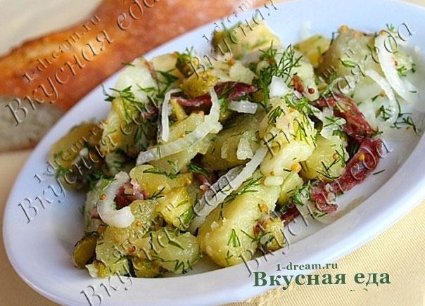 Салат из мяса буженины с картошкой