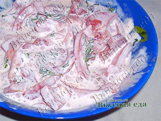 Рецепт салата из помидоров легкий