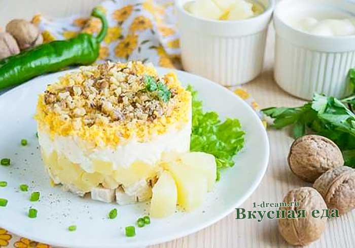 Лучшие рецепты куриных салатов