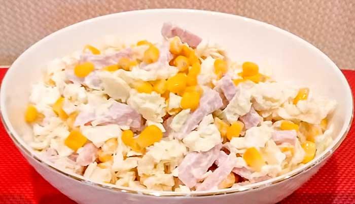 Салат с бужениной и кукурузой-рецепт с фото