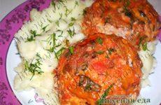 Шарики мясные фаршированные фасолью и луком