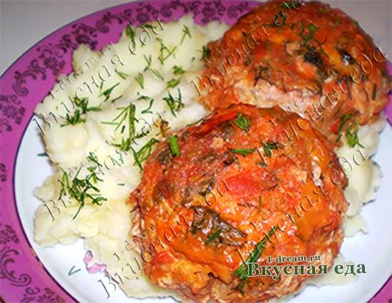Рецепт мясных шариков с начинкой