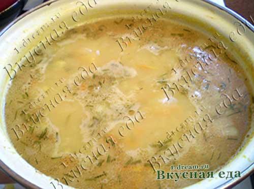 Постный гороховый суп готов