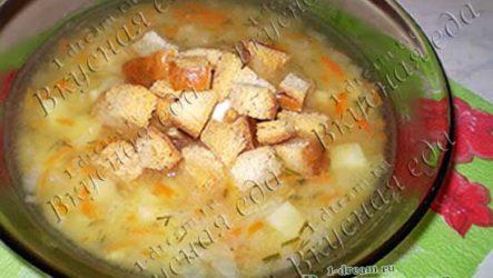 Суп гороховый с сухариками (постный)