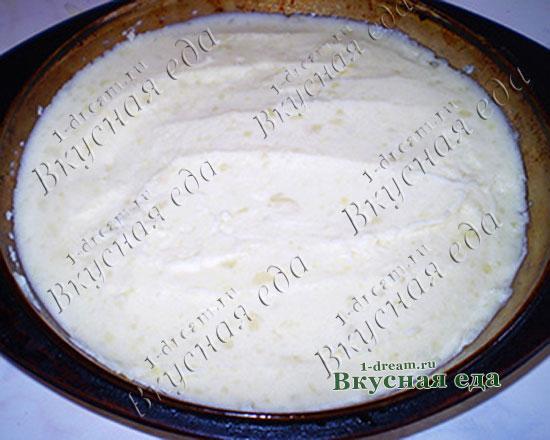 Слой картофеля в запеканке с фаршем