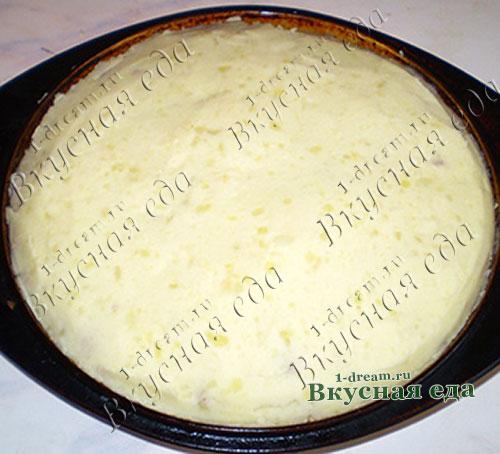 запеканка из картофеля фарша и грибов