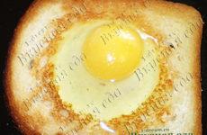 Тост с яичницей