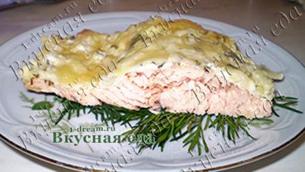 Горбуша запеченная в фольге-рецепт с фото