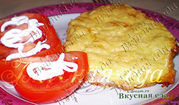 Запекаем в духовке куриное филе под сыром