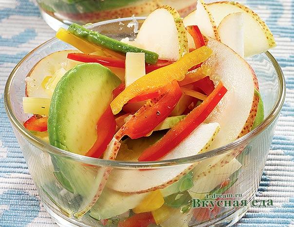 Салат из груш и авокадо