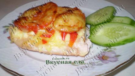 Куриное филе с болгарским перцем и помидорами