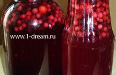 Компот из красной и черной смородины на зиму