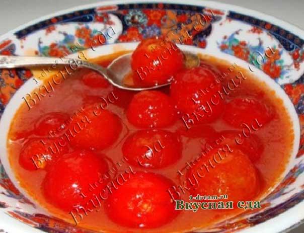 Реецпт помидоров в собственном соку на зиму