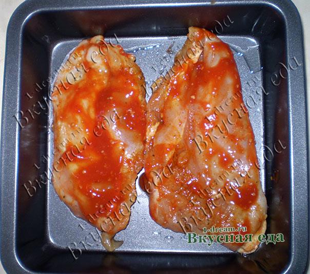 Курица в томатном маринаде