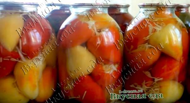 Маринованный болгарский перец на зиму фаршированный капустой