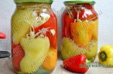 Маринуем перец, фаршированный белокочанной капустой