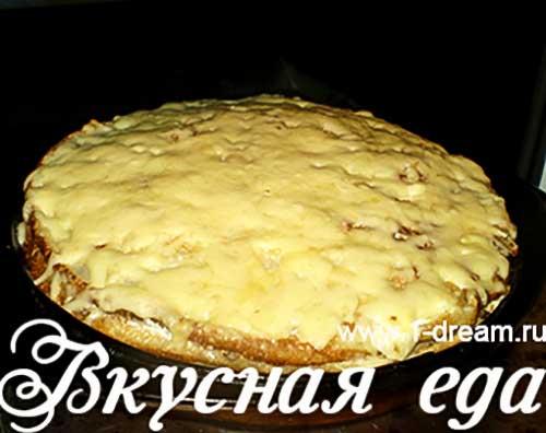 Сверху посыпать сыром