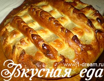 Дрожжевой пирога с яблоками