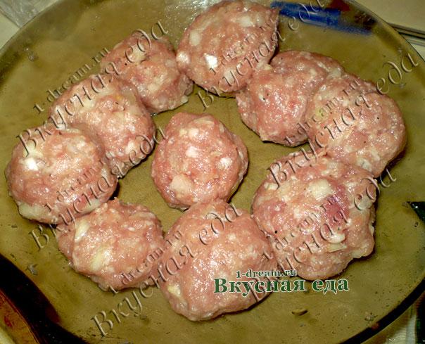 Мясные фрикадельки для запеканки