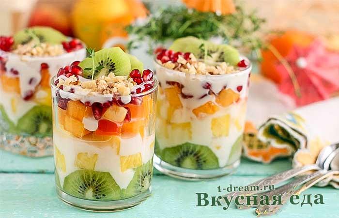 Фруктовый салат- лучшие рецепты с фото