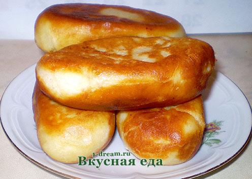 Жареные пирожки с картошкой