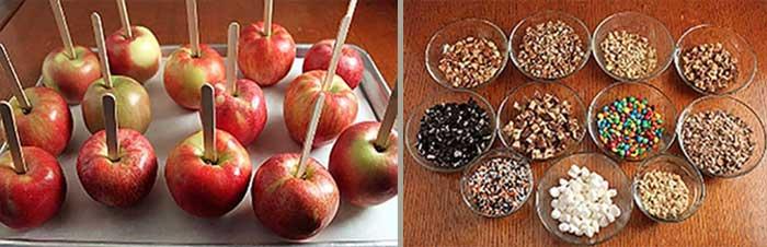 Яблоки и посыпки