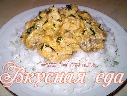 готовим курицу в сливочном соусе