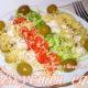 Салат с курицей, сыром и китайской капустой