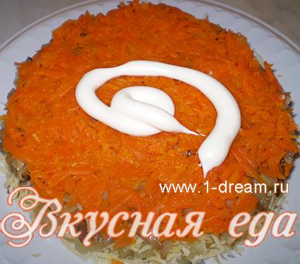 салат с курой и сыром
