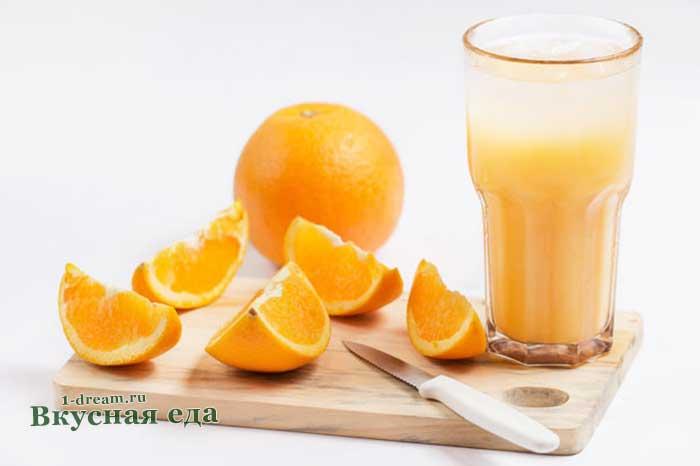 Коктейль с перепелиными яйцами и апельсином