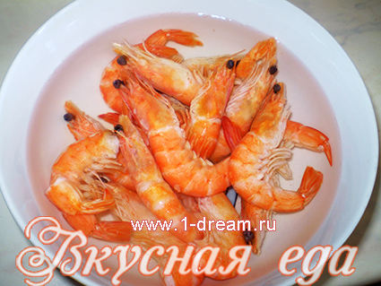 Креветки в салат