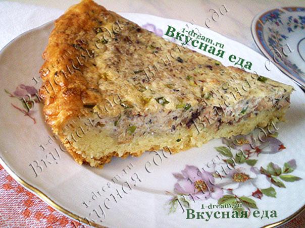 Рецепт пирога с рыбными консервами