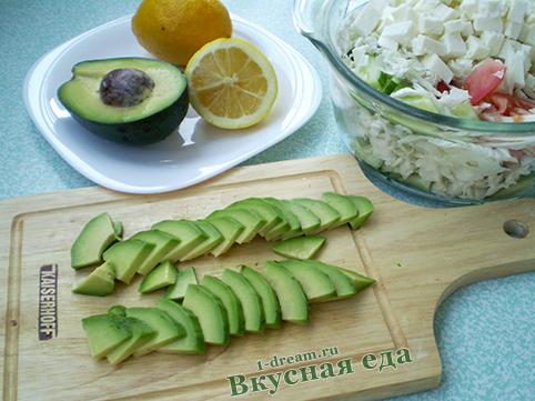 Авокадо  порезать для весеннего салата