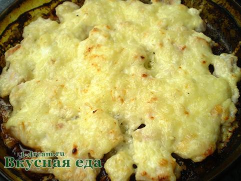 Куринео филе сметана с сыром готово