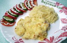Куриное филе, запеченное со сметаной и сыром