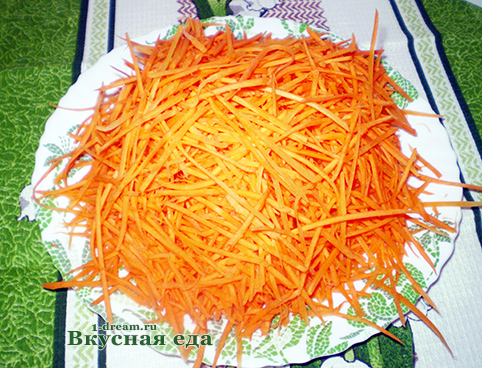 рецепт салата корейская морковь