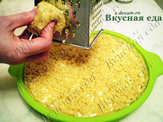 Трем тесто для пирога с творогом