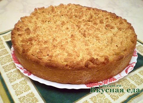 Пирог с творогом остыл