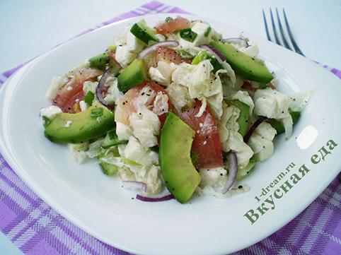 Салат Весенний с овощами