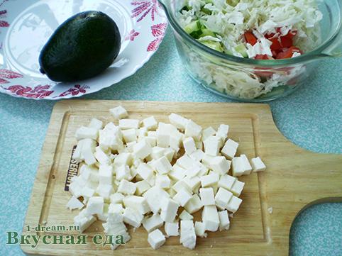 сыр для весеннего салата