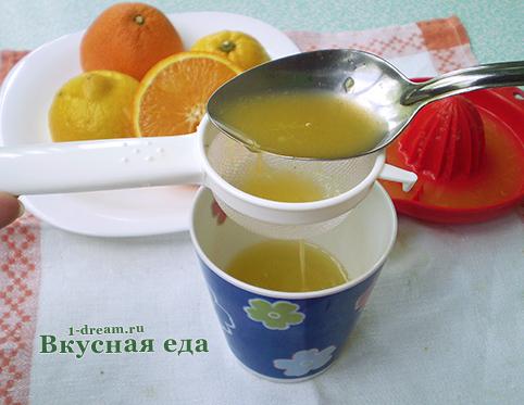 Сок для сиропа