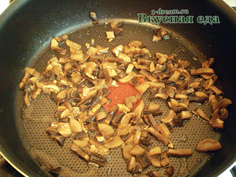 Грибы для куриного филе обжарить