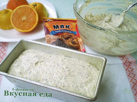 Лимонный кекс в форме
