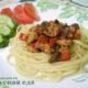 Куриное филе с грибами, в остром соусе
