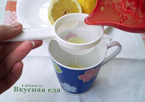 Лимонный сок для кекса