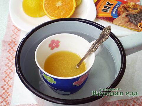 Сироп для  лимонного кекса